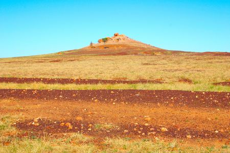Australian outback volcano plug