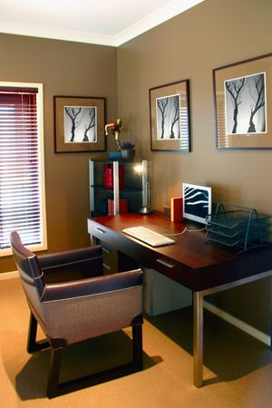 Home interior featuring photographers own art Stock Photo