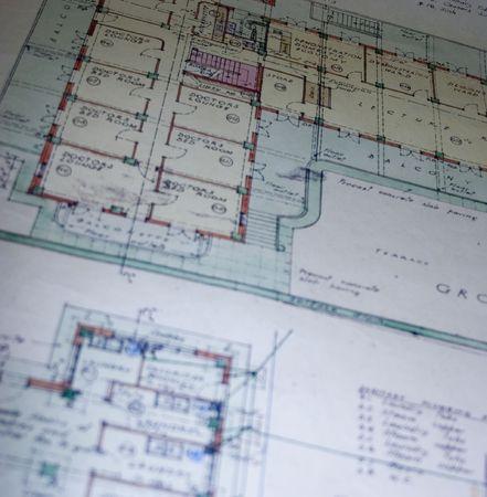 floorplan: Construction blueprints Stock Photo