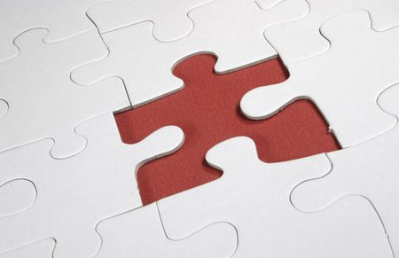 missing piece of the puzzle Stock Photo