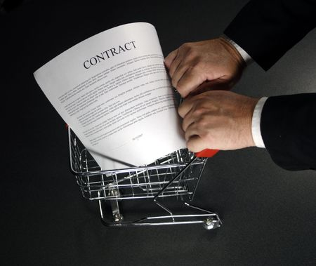 out shopping a contract around