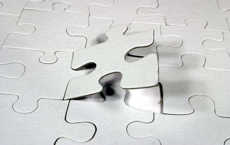 managed: blank jigsaw puzzle