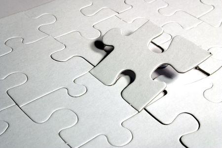 blank jigsaw puzzle Stock Photo - 657792