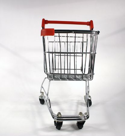 shopping cart front Stock Photo