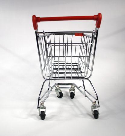 blank shopping cart from rear Stock Photo