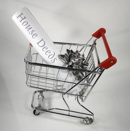 deeds: House deeds in shopping cart