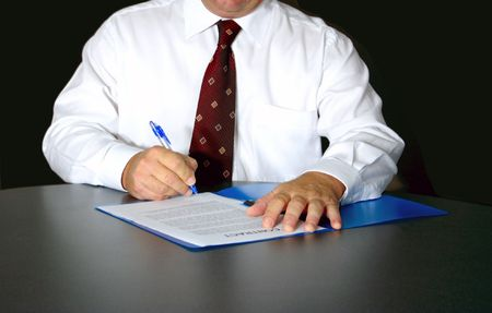 man with contract Stock Photo