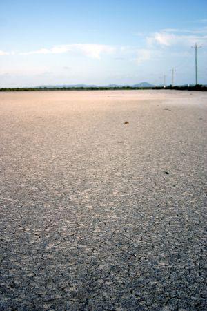 ravaged: salt ravaged earth Stock Photo