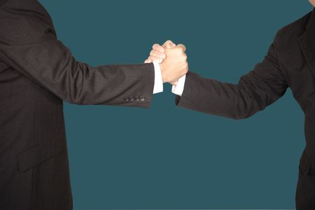 hand shake with clipping path  Stock Photo