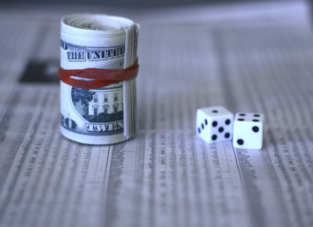 cash and dice and stock market