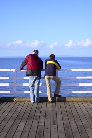 couple look out at sea