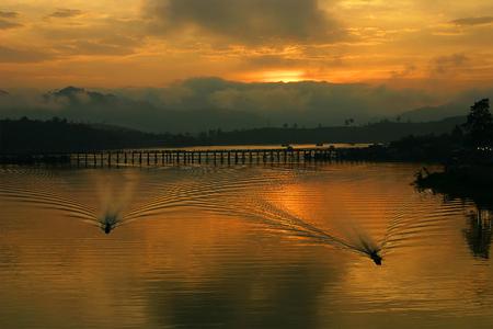 sunup: Sunrise at Mon Bridge - Sangkhlaburi Thailand
