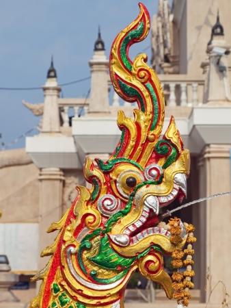 A Naga decoration in a temple complex in Nong Khai, Thailand Stock Photo - 18238449