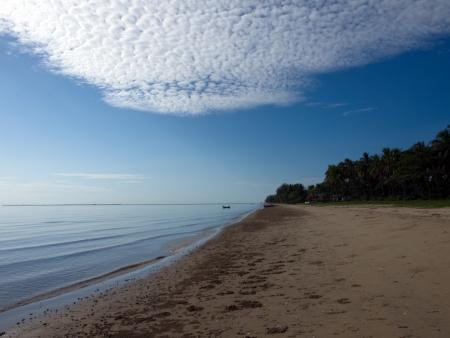 lang: Sky, sea, sand and wood converge in Paknam Tako, Lang Suan district, Chumphon, Thailand