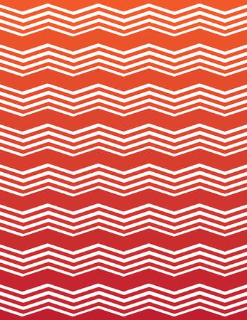 ombre: Orange and Red Ombre Unique Chevron Pattern Illustration