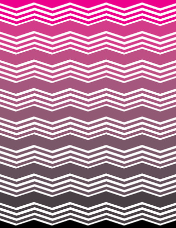 ombre: Pink and Black Ombre Unique Chevron Pattern