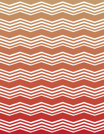 ombre: Tan and Red Ombre Unique Chevron Pattern Illustration