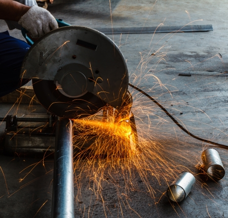 Metal sawing close up machine Stock Photo - 17503841