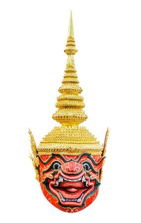 Thai giant khon mask use in royal performance, Khon