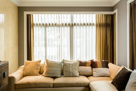 Living room in a condominium Stock Photo