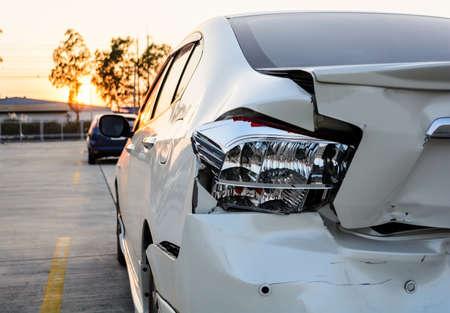 crashed car 写真素材