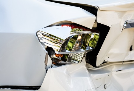 horse pipes: accident car Stock Photo