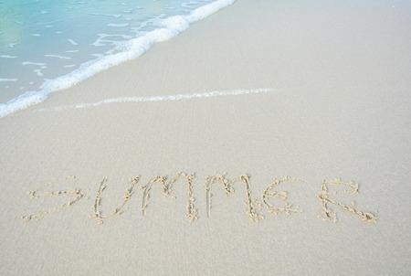 alphabet letter a: Beach of summer