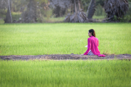 lovelorn: Vietnam traditional dress, Ao dai is famous traditional costume for woman in VIetnam, vietnam farmer.