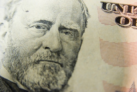 fifty dollar bill: Fifty Dollar Bill Close up Stock Photo
