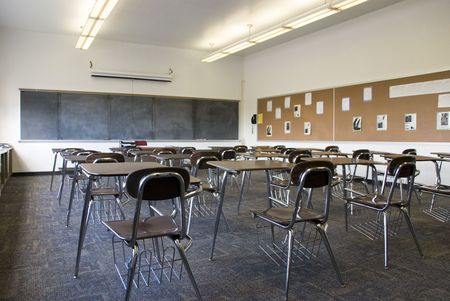 empty: Empty School Class Room Stock Photo