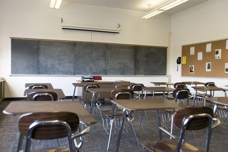 School Class Room with Blackboard Stock fotó
