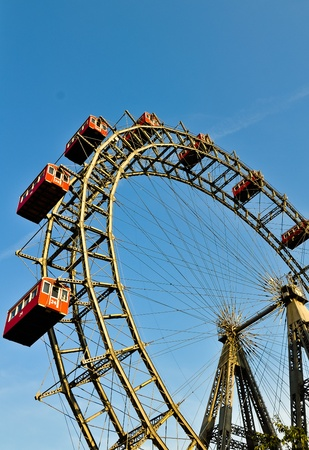 the riesenrad in vienna- giant ferris wheel photo