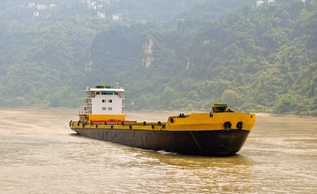 freighter: freight ships on the yangtze in china