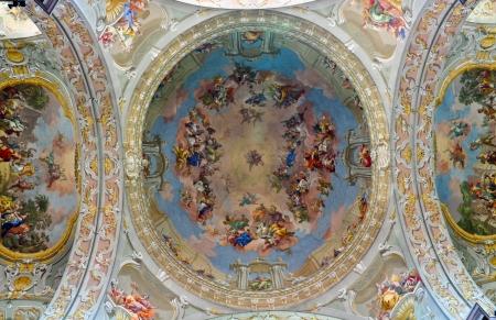 barokke plafondpaneel al fresco Redactioneel
