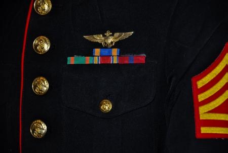 details van een ons marine corps parade uniform Stockfoto