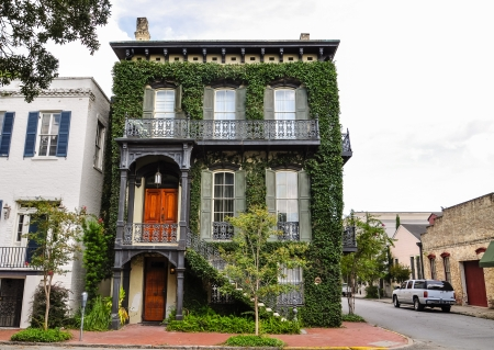southern residence with ivy
