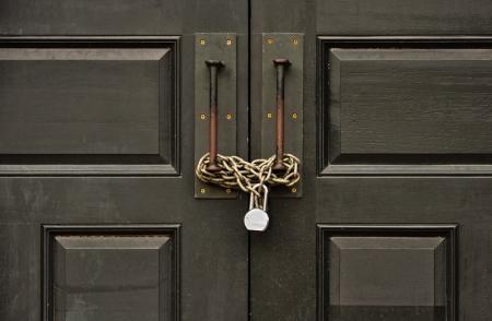 padlocked: padlocked gate Stock Photo