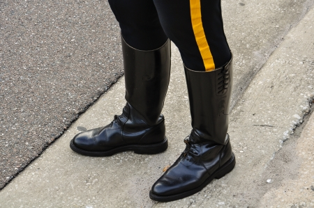 patrolman biker boots and pants