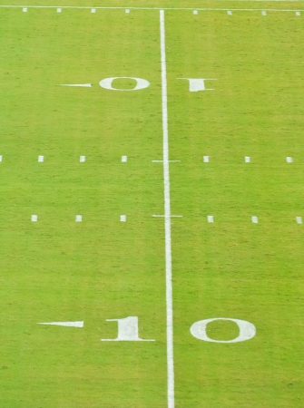 yardline: ten yard line on a football field Stock Photo