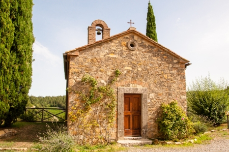 little chapel in tuscany, italy