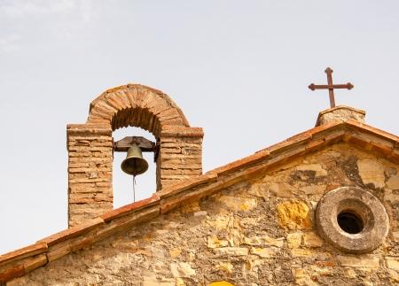 details van een kleine kapel in Toscane, Italië