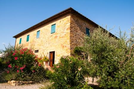 stone villa in tuscany, italy