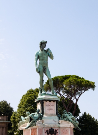 michelangelo s david in florence Stock Photo