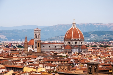 basilica of saint mary of the flower and cityscape of florence, italy Stock Photo