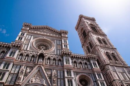 basiliek van de Heilige Maria van de bloem in Florence, Italië Stockfoto