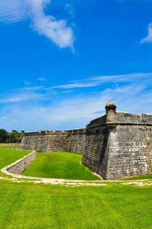 historical fort castillo des san marcos in st  augustine, florida