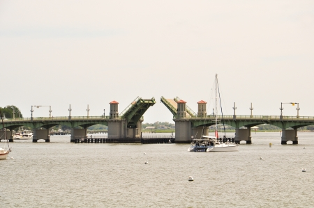open draw bridge at a bay in florida Stock Photo - 24500490
