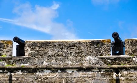 antieke kanonnen bij St Augustine fort