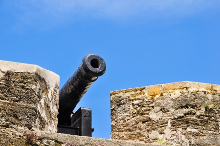antique cannon at st  augustine fort  Stock Photo