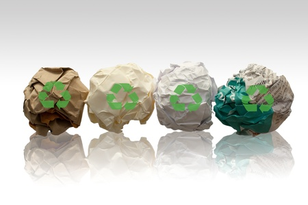 paper recycling: papers for recycling Stock Photo